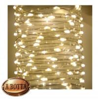 100 LED Luci di Natale da ESTERNO Controller 8 Giochi a Batteria - Luce CALDA