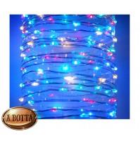 100 LED Luci di Natale da ESTERNO Controller 8 Giochi a Batteria - Multicolor