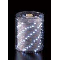 100 Luci LED di Natale da ESTERNO a batteria con timer 8 Giochi - Luce FREDDA