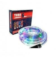 144 Luci di Natale Led da Esterno Tubo Luminoso Multicolor 8 Giochi di Luce 6 m