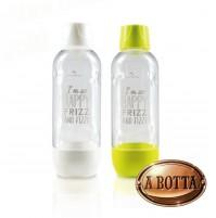 2 Bottiglie 1L Universali x Gasatore Acqua HAPPY FRIZZ scadenza 06/2021 BPA FREE