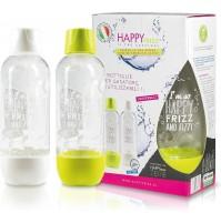 2 Bottiglie Plastica da 1 Litro per Gasatore di Acqua HAPPY FRIZZ BOT01 BPA FREE