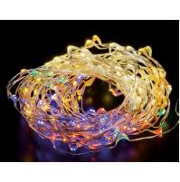 200 LED Luci Natale da ESTERNO Controller 8 Giochi Bicolor Luce CALDA e MULTICOL