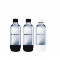 3 Bottiglie Universali in PET da 1 litro SODASTREAM per Gasatore Acqua
