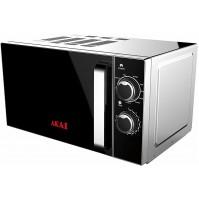 AKAI AKMW201 Forno Microonde Grigio 20 Litri 700 W + Grill 900 W 5 Potenze Timer