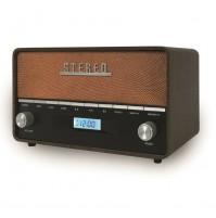 AKAI R200 Radio Portatile Digitale Vintage Retrò con Bluetooth USB Sveglia AUX