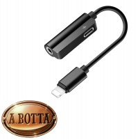 Adattatore Lightning - Presa Cuffia Jack 3,5 mm ROCK RCB 0587 + Ricarica iPhone