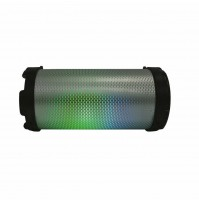 Akai AKBT110 Bazooka Cassa Audio Speaker Bluetooth Ricaricabile USB con Luci Led