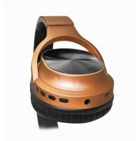 Akai BTH10 Cuffia Stereo Bluetooth Wireless Ricaricabile Bronzo con Microfono