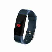 Akai K-FIT 60 Orologio Smartwatch Fitness con Monitoraggio Battito Cardiaco Blu