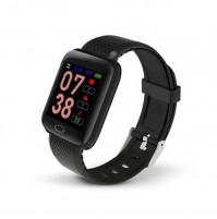 Akai K-FIT100BK Orologio Smartwatch Smart Fitness Monitoraggio Battito Cardiaco