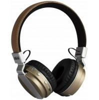 Akai Pro Series BTH08 Cuffia Stereo Bluetooth Ricaricabile Beige con Microfono