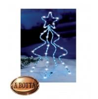 Albero Alberello Natale 126 Led da Esterno H 68 cm - Figura Luminosa Luce Fredda