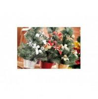 Albero Alberello di Natale Addobbato Rosso Altezza 64 cm - Decorazione Natalizia