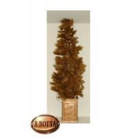 Albero Alberello di Natale Dorato 180 cm con Vaso e Pigne Colore Oro - Christmas