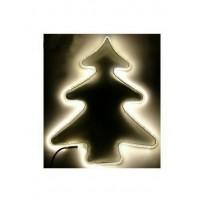 Albero di Natale Luminoso 240 Led da Esterno 56x42 cm - Luce Calda con Timer