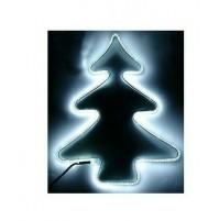 Albero di Natale Luminoso 240 Led da Esterno 56x42 cm - Luce Fredda con Timer
