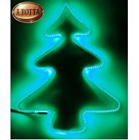 Albero di Natale Luminoso 240 Led da Esterno 56x42 cm - Luce Verde con Timer