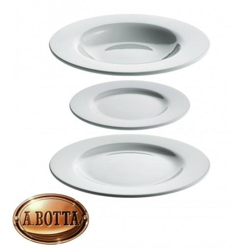 Alessi PlateBowlCup AJM28S6 Set 2 Piatti Piani + 2 Fondi + 2 Dessert Porcellana