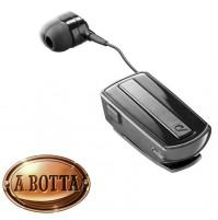 Auricolare Bluetooth CELLULARLINE Roller Clip Headset in-ear Nero Riavvolgibile