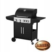 Barbecue Grill Cucina da Esterno a Gas QLIMA OKG104 4 Fuochi 14500 Watt Nero