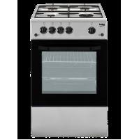 Beko CSG 42011 FS Cucina 50x50 cm SILVER Fornello 4 Fuochi con Forno a Gas