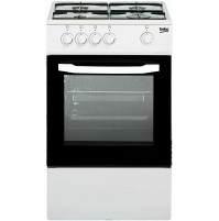 Beko CSG42000DW Cucina Gas 50 x 50 cm Bianco con Fornello 4 Fuochi e Forno a Gas