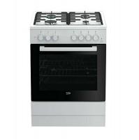 Beko FSST62110DW Cucina a Gas 4 Fuochi Bianca Forno Elettrico Statico 60 x 60 cm