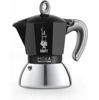 Bialetti Moka Induction Caffettiera Caffé 2 Tazze Nero anche per INDUZIONE NUOVO