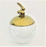 Biscottiera originale BIALETTI Cookie Rabbit Jug Gold in Ceramica Bianca e Oro
