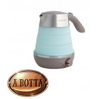 Bollitore Acqua Elettrico 0,6 Lt Brandani 53490 Salvaspazio Azzurro con Silicone