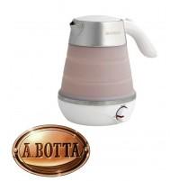Bollitore Acqua Elettrico 0,6 Lt Brandani 53491 Salvaspazio Sabbia con Silicone