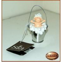 Bomboniera Baby Bimbo Secchio di Schiuma SIA - 908000 Battesimo -