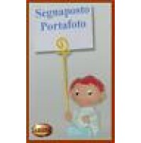 Bomboniera Segnaposto Portafoto Bambino Bimbo Bebè azzurro - 119333 Battesimo -
