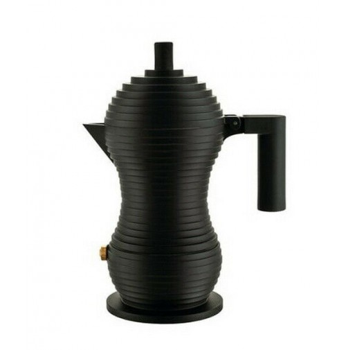 Caffettiera Espresso Moka Caffé 1 Tazza Alessi Pulcina MDL02/1 BB Nero