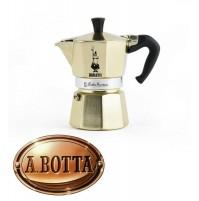 Caffettiera Moka 3 Tz Originale BIALETTI Moka Express Oro 0005173 Caffè Espresso