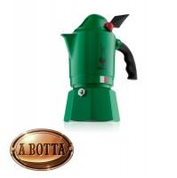 Caffettiera Moka Break ALPINA Originale Bialetti Verde - Capacità 3 Tazze Caffè