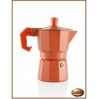 Caffettiera in Alluminio Arancione AROMATIC EXPRESS 1 Tazza BRANDANI 56515 -Moka