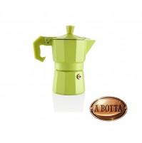 Caffettiera in Alluminio Verde AROMATIC EXPRESS 1 Tazza BRANDANI 56514 - Moka