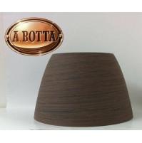 Cappello Linea Light Cupolè Wengè Vetro Centrifugato Diametro 29 cm NCVE0011