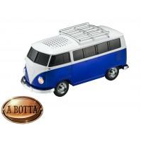 Cassa Audio Speaker Bluetooth AKAI AKBTVWT1 Furgone Vintage Volkswagen Blu USB