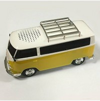 Cassa Audio Speaker Bluetooth AKAI AKBTVWT1 Furgone Vintage Volkswagen Giall USB