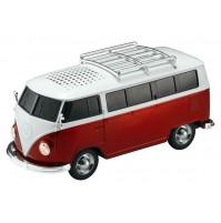 Cassa Audio Speaker Bluetooth AKAI AKBTVWT1 Furgone Vintage Volkswagen Rosso USB