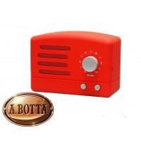 Cassa Audio Speaker Bluetooth AKAI R50BT Rosso Vintage Retrò Design con Radio FM