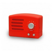 Cassa Audio Speaker Bluetooth AKAI R50BT Rosso Vintage Retrò Design con Radio FM