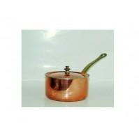 Casseruola in Rame Stagnato ad un Manico con Coperchio NICO MARIN 33012 D 12 cm