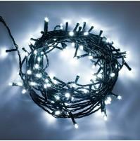 Catena 100 Luci LED con MUSICA Musicali Albero di Natale Bianco Freddo 4,9 metri