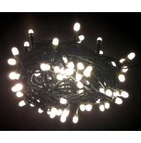 Catena 100 Luci MAXI LED per Albero di Natale Bianco Caldo 7,9 metri da Esterno