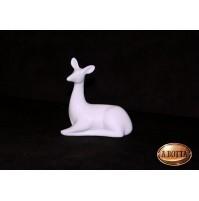 Cerbiatto in Porcellana Bianca da Dipingere e Confezionare Bomboniere Decoupage