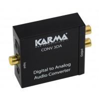Convertitore Audio Karma CONV 3DA da Digitale Ottico ad Analogico RCA e Cuffia